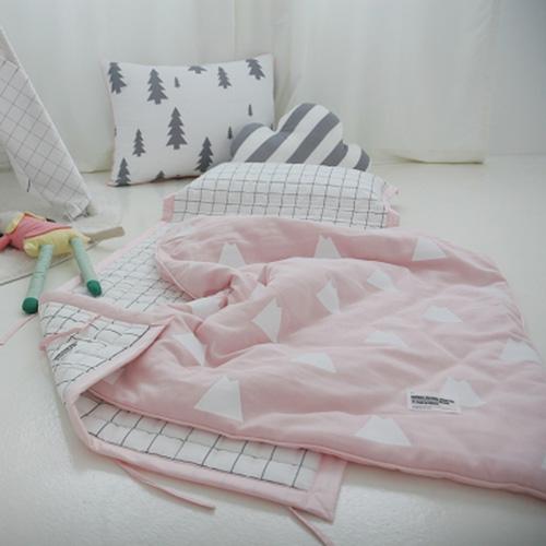 마운틴거즈 핑크 낮잠이불