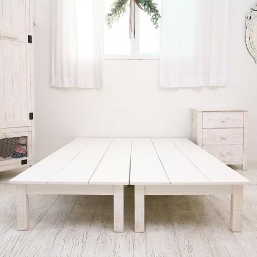 뉴질랜드소나무 평상침대(슈퍼싱글)(white)