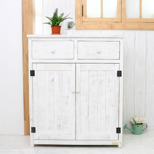 뉴질랜드소나무 DISH80수납장(white)