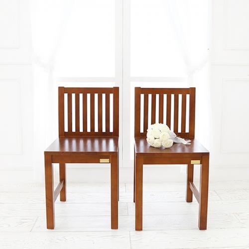뉴질랜드소나무 L자 의자 (2EA)(Natural)