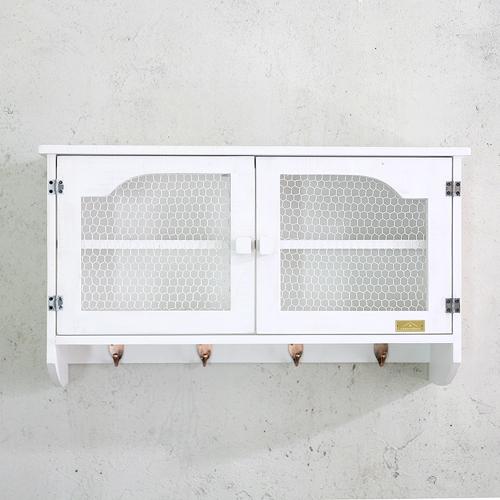 뉴질랜드소나무 철망벽수납함73(white)