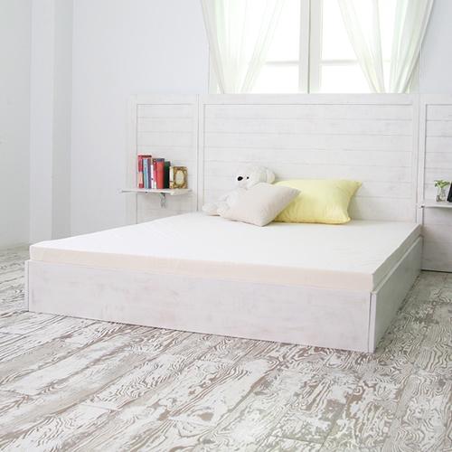 라인 수납형 퀸침대(white) BED-COO1-W
