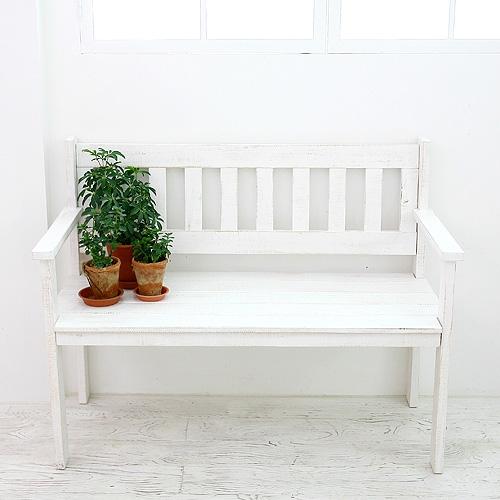 슈어뉴질랜드통소나무w110등벤치(white)