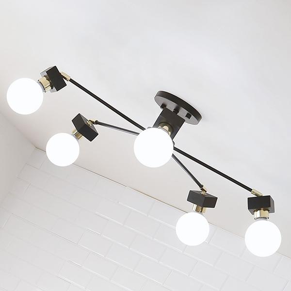 [LED] 미숑5등 직부등(라운드형-2color)