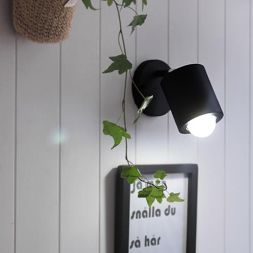 배럴 벽1등[LED]-블랙