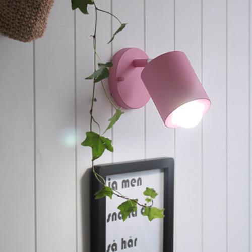 배럴 벽1등[LED]-핑크