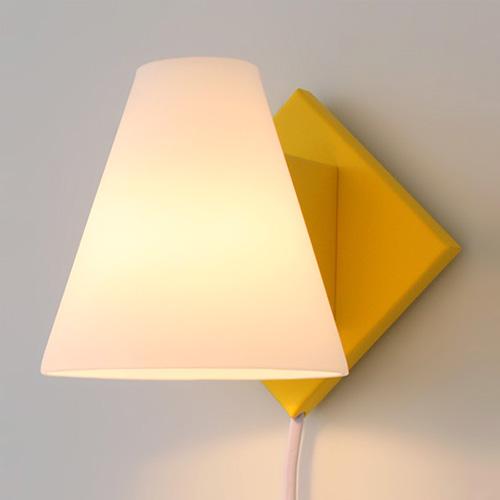 모리 벽걸이 스탠드[LED]-옐로우