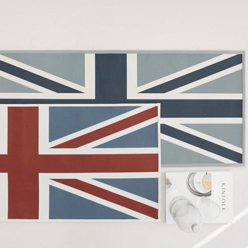 빈티지 잉글랜드 주방매트