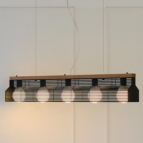 [LED] 블라인드5등 펜던트-블랙