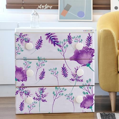 트리피컬 디자인 서랍장 violet tropical   3단