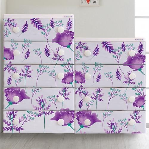 트리피컬 디자인 서랍장 violet tropical   4단