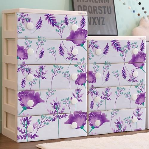 트리피컬 디자인 서랍장 violet tropical   5단
