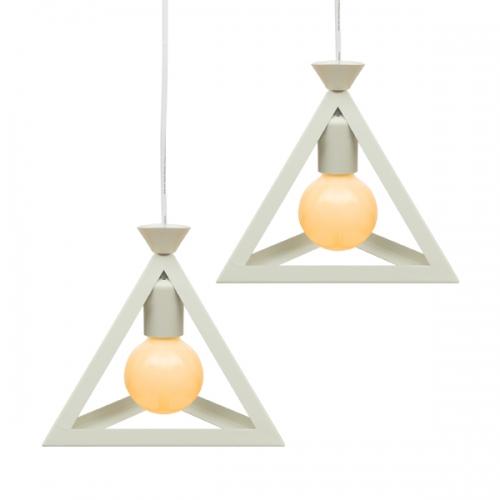 아가타 삼각 펜던트 2등 (LED겸용/식탁등/카페조명/포인트조명)