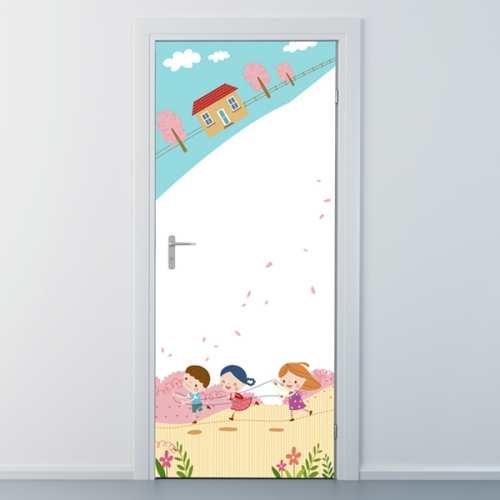 nces030-칙칙폭폭 기차놀이-현관문시트지