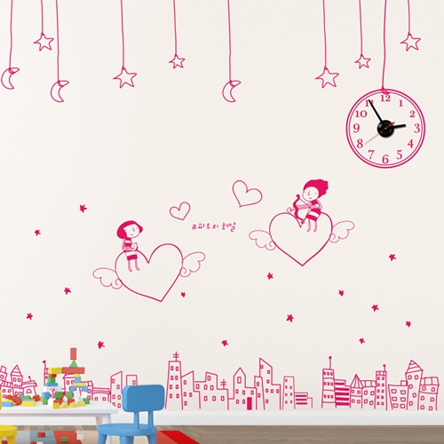 jkc032-사랑의 큐피트 화살_그래픽시계