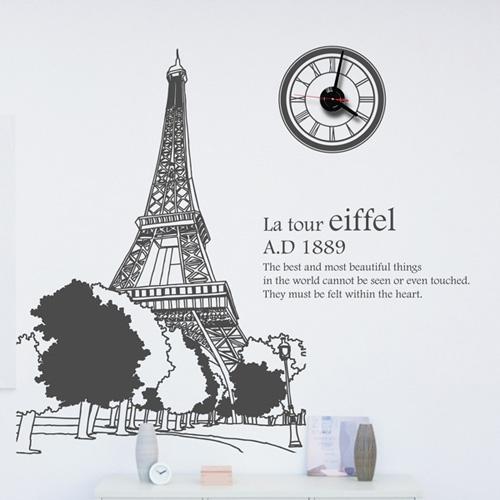 jkc119-에펠탑_그래픽시계
