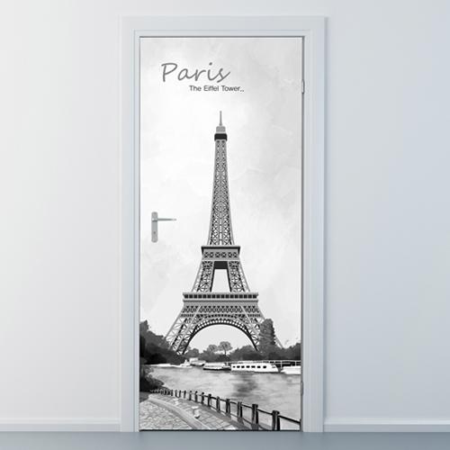 ncbr099-파리의 에펠탑-현관문시트지
