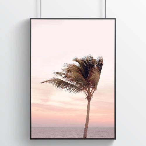 핑크 캘리포니아 바다포스터