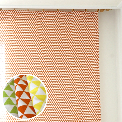 미니 트라이앵글 커튼-그린,오렌지,옐로우