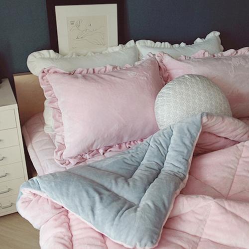 마카롱 극세사 침구세트-핑크
