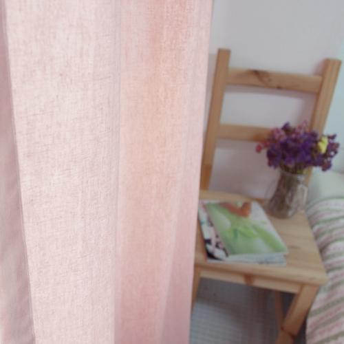 린넨커튼-핑크
