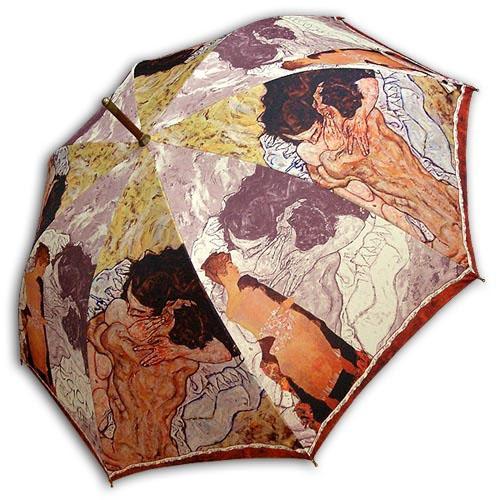 Hello RainCats 에콘쉴레_포옹(W) 자동우산