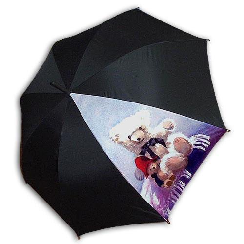 Hello RainCats Lovely Bears 한폭 자동우산