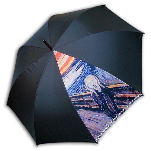 Hello RainCats 뭉크-절규 한폭(W) 자동우산