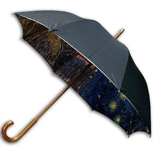 Hello RainCats 고흐_론강의별밤(W) 이중 자동우산
