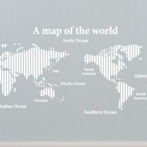 [그래픽스티커]심플 버티컬 세계지도