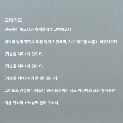 [그래픽스티커]천주교 고백기도 한글