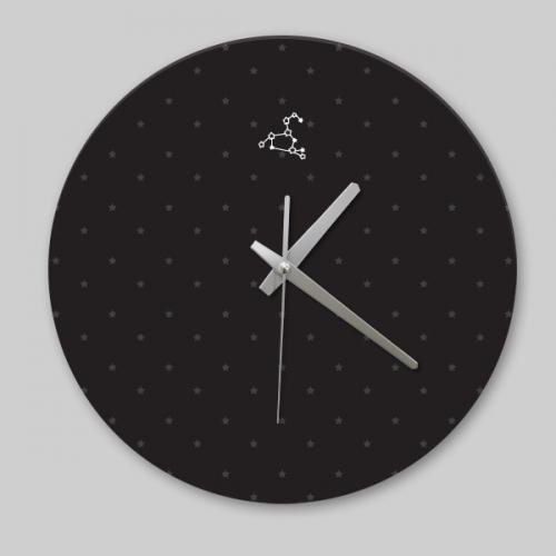 [디자인 시계]블랙 심플 사자자리