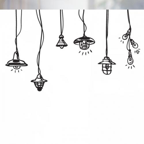 [불투명 창문시트]빈티지 램프