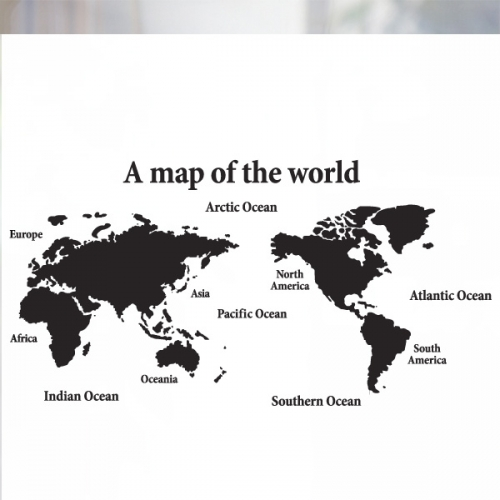 [불투명 창문시트]세계지도