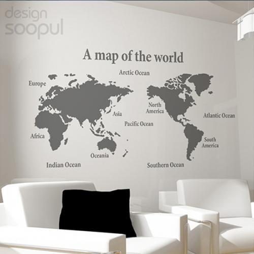 [그래픽 스티커]세계지도 외 4개