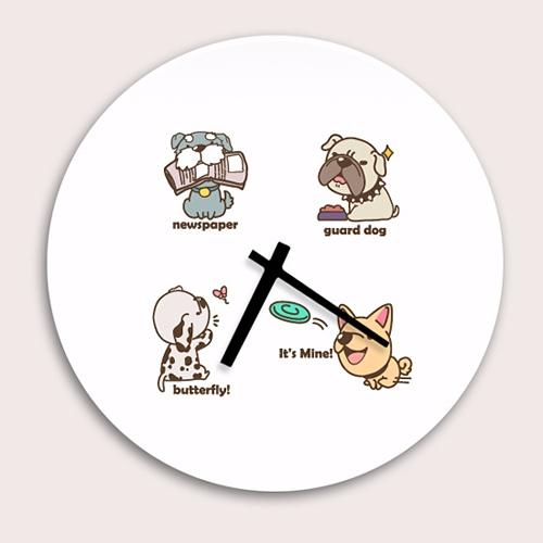 [디자인 시계]큐트도그 패밀 #5