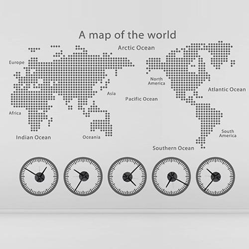[그래픽 시계]써클모던 월드타임