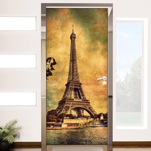 cp072-빈티지느낌의 에펠탑과세느강