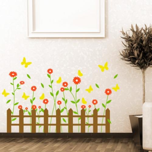 ia161-꽃과 나비가 머무는 봄날의 울타리