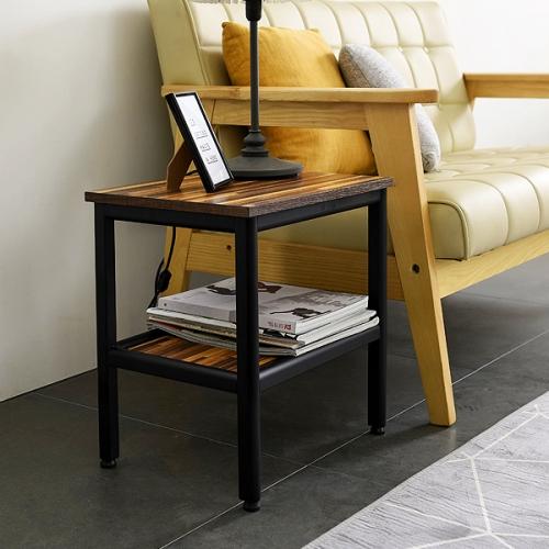 스틸 2단 협탁 다용도 테이블 철제 디자인 탁자