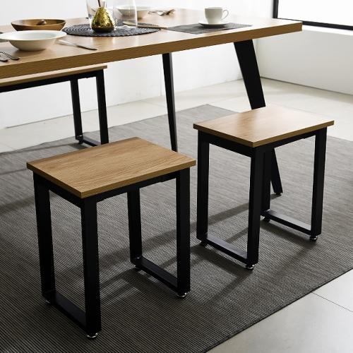 인테리어 철제 싱글의자 1인의자 스틸의자 벤치 식탁의자