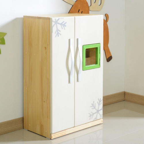 원목 프리티 양문형 냉장고 역활놀이 소꼽놀이(CJ009)