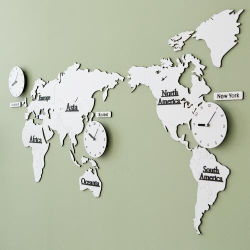 LPM 세계지도 벽시계