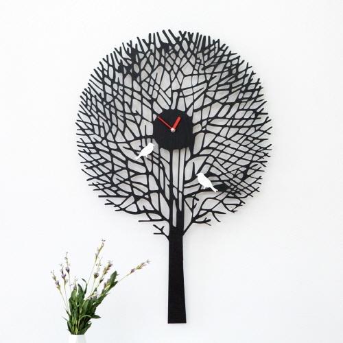 가시나무 새 무소음 벽시계