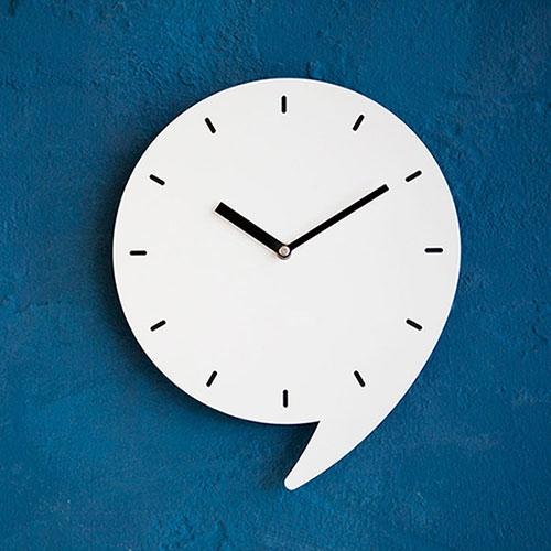 쉼표 무소음벽시계(3color)