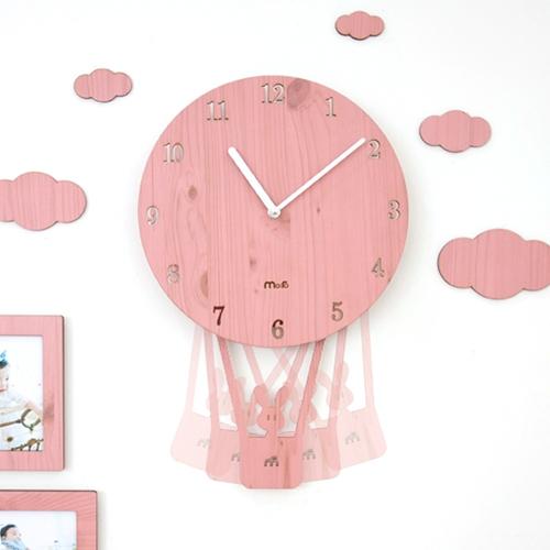 스카이풍선 무소음벽시계(4color)