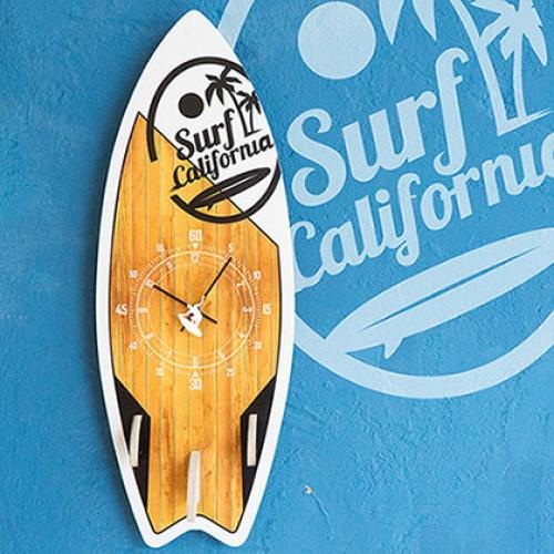 서핑보드 무소음벽시계