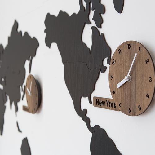 월드타임 무소음벽시계