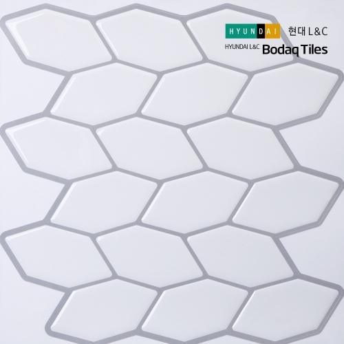 [현대L&C]손쉽게 붙이는 보닥타일 헥사 모노화이트