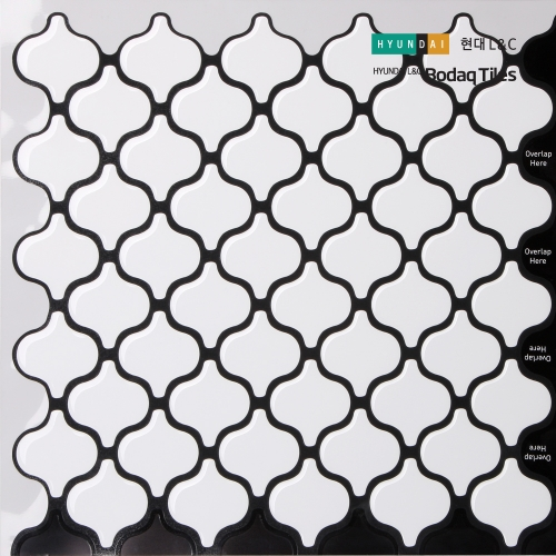[현대L&C]손쉽게 붙이는 보닥타일 다마스크 화이트